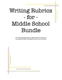 Writing Rubric Bundle Megapack for Middle School