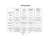 Writing Rubric Elementary upper grades