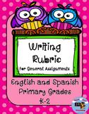 Writing Rubric English and Spanish