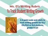Writing Rubric / Growth Tracker