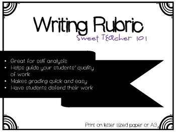 Writing Rubric Posters