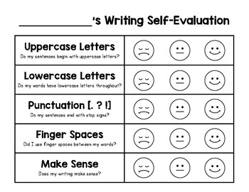 Writing Rubric & Self-Evaluation (FREEBIE)