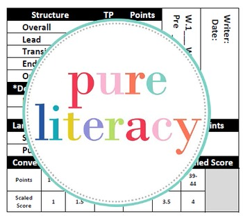 Writing Rubric Sticky Notes Template Grades 1-6 {editable plain sticky template}