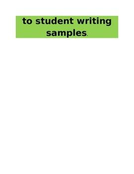 Writing Rubric Strips