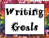 Writing Rubric, Writing Checklist, and Writing Goals Poster! (1st/2nd Grade)