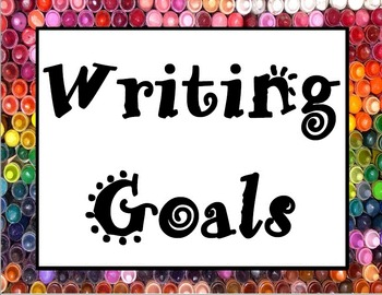 Writing Rubric, Writing Checklist, and Writing Goals Poste