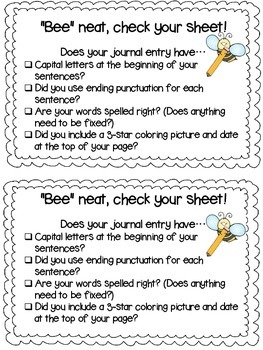 Writing Rubric and Checklist
