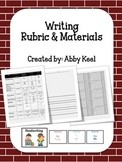 Writing Rubric and Materials