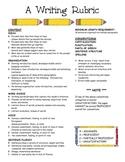 Writing Rubric based on 6 Traits