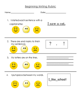 Writing Rubric for Beginners