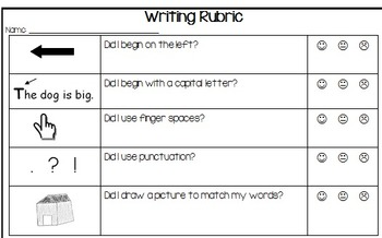 Writing Rubric for Beginning Writers