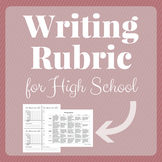 Writing Rubric for High School Students