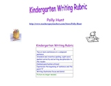Writing Rubric for Kindergarten Kiddos