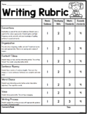 Writing Rubric for Primary Grades