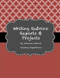 Writing Rubric for Reports and Projects