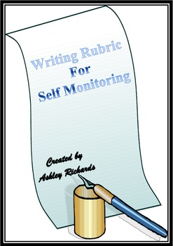 Writing Rubric for self monitoring