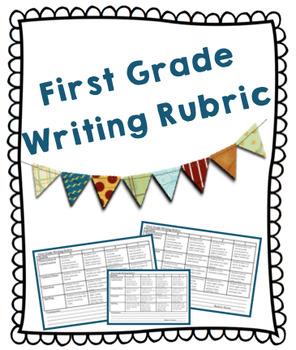 Writing Rubric grade 1