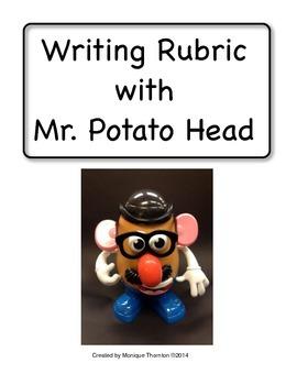 Writing Rubric with Mr. Potato Head