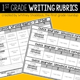 Writing Rubrics Kid Friendly Assessments and Checklists for 1st Grade