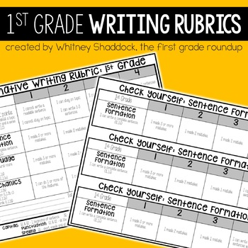 Writing Rubrics 1st Grade: Kid-Friendly Assessments and Ch