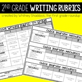 Writing Rubrics, Kid-Friendly Assessments and Checklists for 2nd Grade