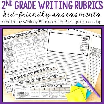 Kid Friendly Narrative Writing Rubric Worksheets TpT