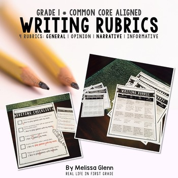 Writing Rubrics Common Core First Grade
