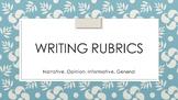Writing Rubrics Editable