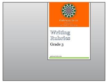 Writing Rubrics Grade 3 (Common Core Aligned)