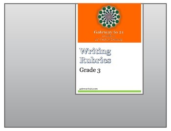 Writing Rubrics Grade 3 (Common Core Aligned)