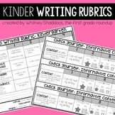 Writing Rubrics, Kid-Friendly Assessments and Checklists for Kindergarten