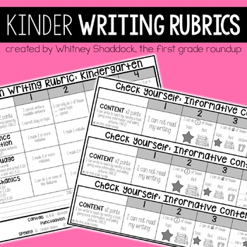 Kid Friendly Informational Rubric Worksheets TpT