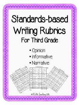 Writing Rubrics: Opinion, Informative, and Narrative