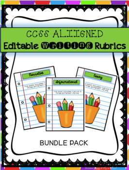 Writing Rubrics Pack