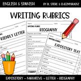 English & Spanish Writing Rubrics