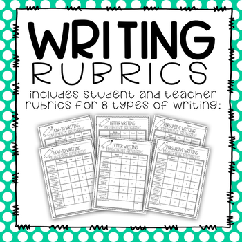 Writing Rubrics- Student and Teacher Rubrics