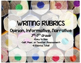 Writing Rubrics for 3rd-5th Graders