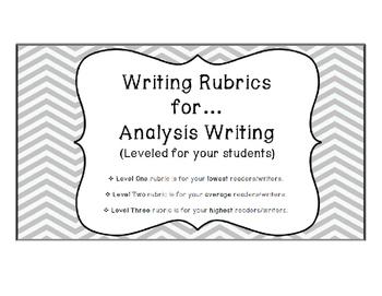 Writing Rubrics for Analysis Writing