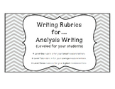 Writing Rubrics for Analysis Writing