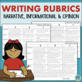 Writing Rubrics for Narrative, Informational, and Opinion Writing