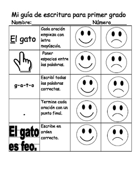 Writing Rubrics in Spanish