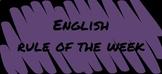 Writing Rule of the Week