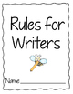 Writing Rules Book- Question Mark, Sentence, and Commas