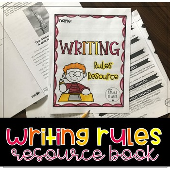Writing Rules List Resource for Students