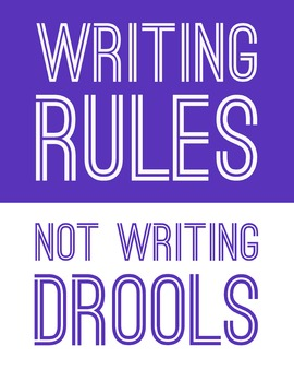Writing Rules, Not Writing Drools 8.5 x 11 Classroom Poster