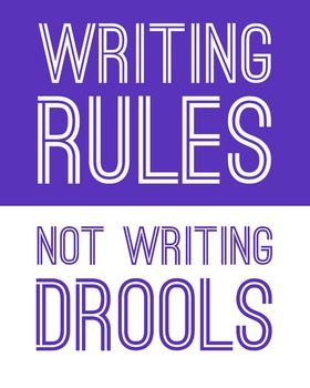 Writing Rules, Not Writing Drools 8 x 10 Classroom Poster