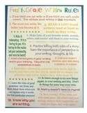 Writing Rules Poster