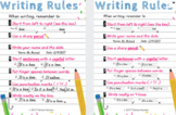 Writing Rules Posters