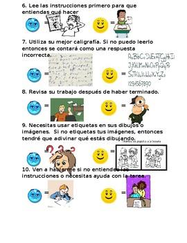 Writing Rules for Homework-Reglas para una correcta tarea