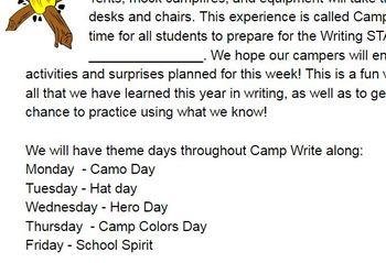 Writing STAAR Prep - Camp Write Along